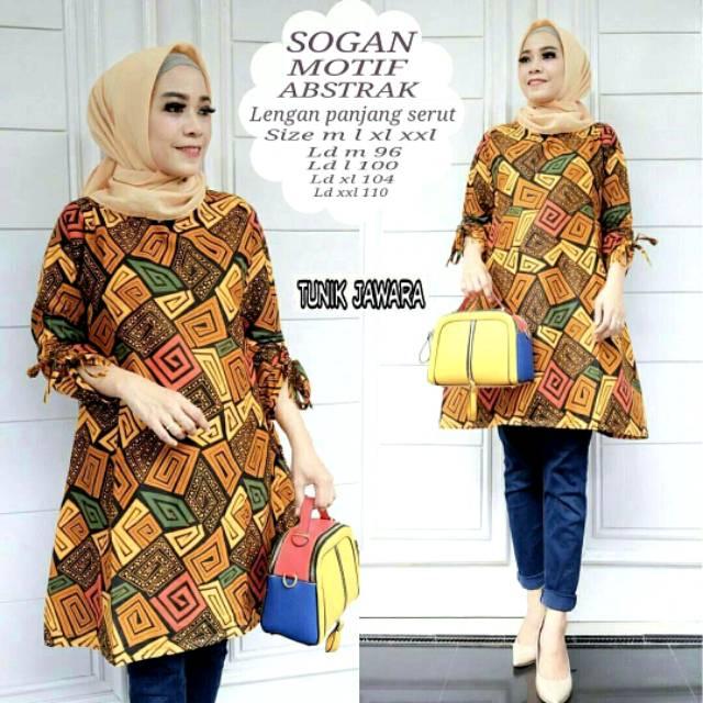 Kemeja Batik Wanita Jumbo: Jumbo Shinta / ATASAN WANITA BIG SIZE JUMBO XL LD 110cm