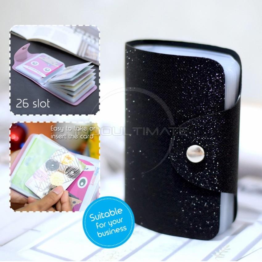 PREMIUM Dompet Kartu Nama 26 Slot /Dompet Kartu ATM/credit card OR 92-01 BLINK - Black | Shopee Indonesia
