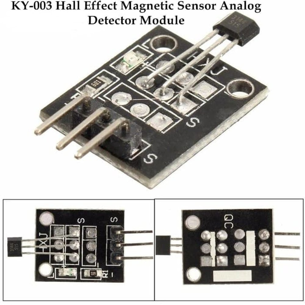 2Pcs New KY-003 Hall Magnetic Sensor Module for Arduino