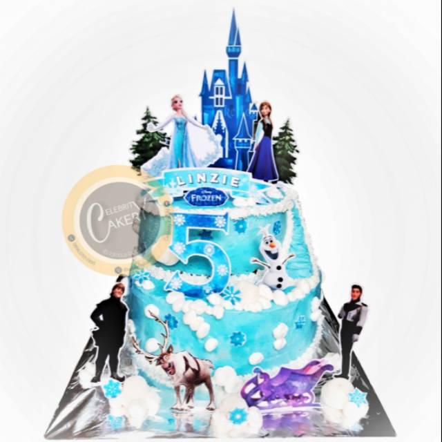 Cake Kue Ultah Ulang Tahun Frozen 2 Tier