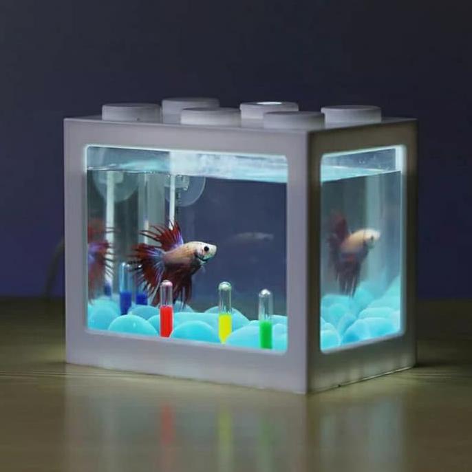 Best Product Aquarium Mini Kecil Susun Lampu Led Ikan Hias Cupang Colokan Usb Shopee Indonesia