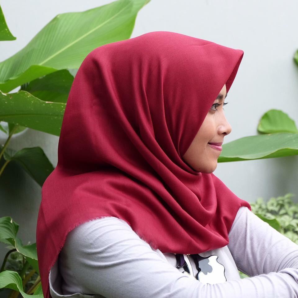 Duapola Hijab Katun Rawis 1130 Shopee Indonesia Abu Muda