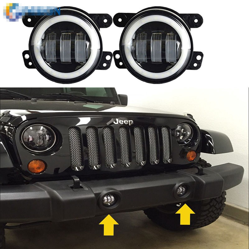 Jeep Wrangler Fog Lights >> 30w Foglights Putih Driving Light Proyektor Untuk Chrysler Dodge Jeep Wrangler Lampu Bumper Depan