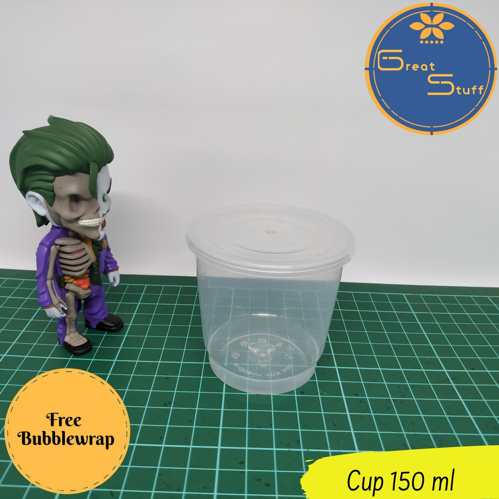 Cup plastik 150ml / Cup puding 150ml / Cup selai 150ml / Thinwall 150ml