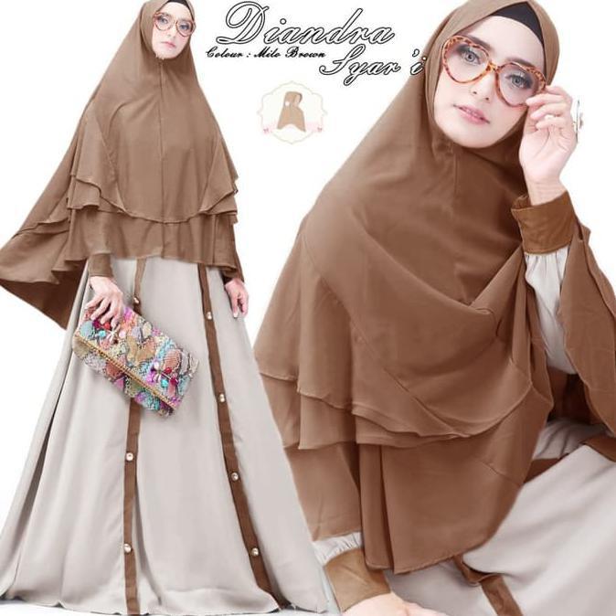 Promo Turun Harga Baju Busana Muslim Wanita Gamis Syari Pesta Maxi Dres Diandra Terbaru Buruan Shopee Indonesia