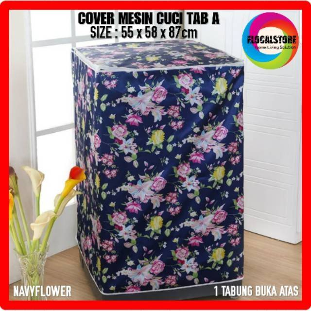 Cover Mesin Cuci 2 Tabung Type C 100% Polyester Tebal Anti Panas Water Proof   Shopee Indonesia