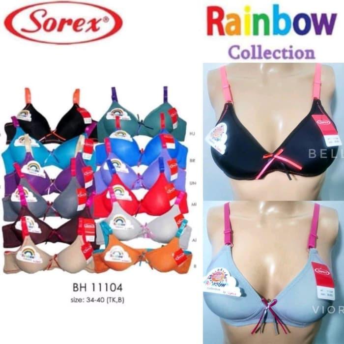 e2f470932 PROMO BRA WANITA SOREX RAINBOW 11104 TANPA KAWAT JAKARTA | Shopee ...