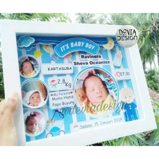 Biodata Bayi / Pop Up frame 3D biodata bayi/ Bingkai 3 ...