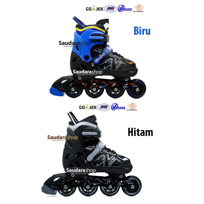 Power King Sepaturoda Inline Roda FULL Karet Hitam   Sepatu roda ... 4da7667512