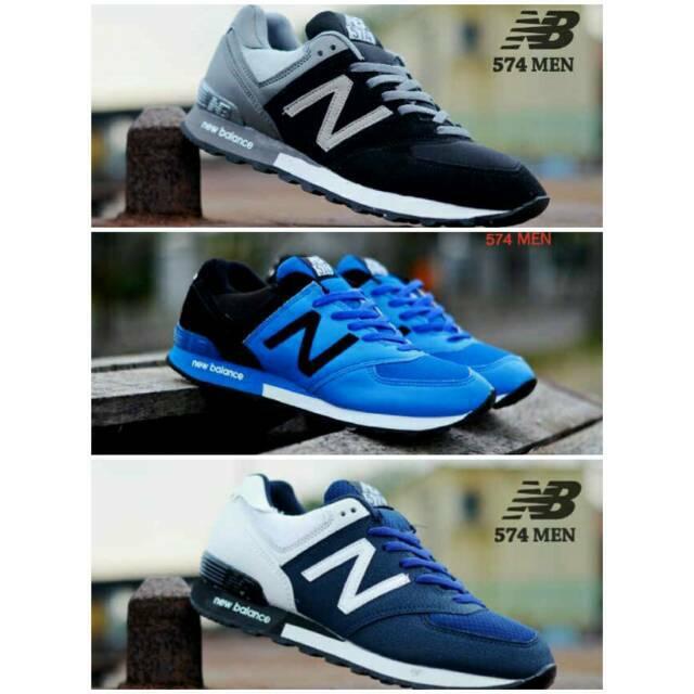(BEST SELLER) sepatu olahraga nb new balance 574   sepatu casual pria cowok  murah sneakers kets  77ee7231c9