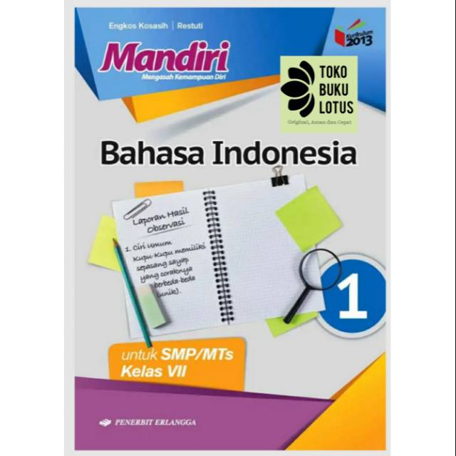 Buku Mandiri Bahasa Indonesia Kelas 7 Kurikulum 2013 Ilmusosial Id