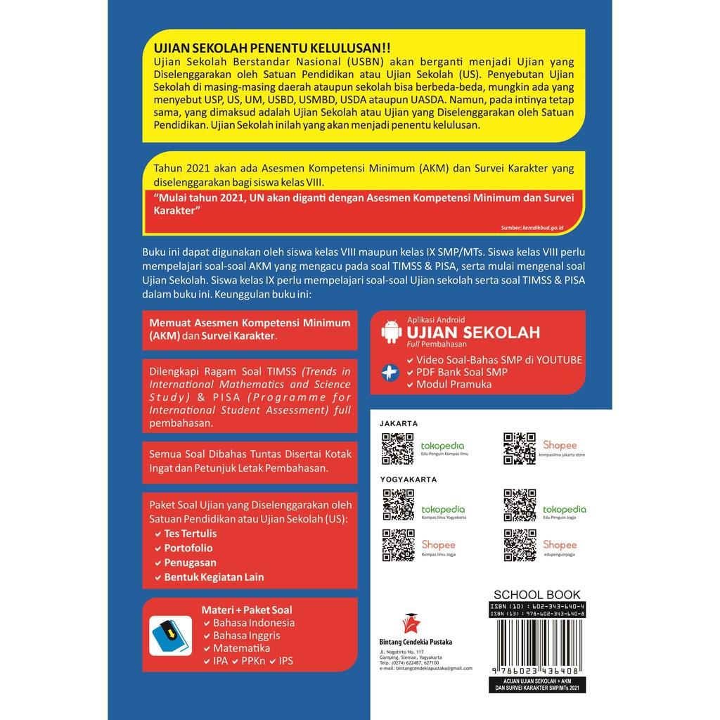Buku Acuan Ujian Sekolah Akm Survei Karakter Smp Mts 2021 Shopee Indonesia