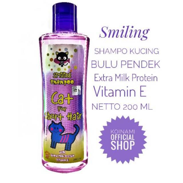SMILLING FOR SHORT HAIR 200ml UNGU / raid all / shampo kucing bulu pendek / cat / hewan / pet-1