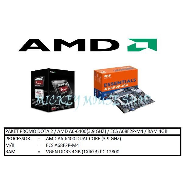 PC PAKET PROMO DOTA 2 / AMD A6-6400(3.9 GHZ) / ECS A68F2P-M4 / RAM 4GB