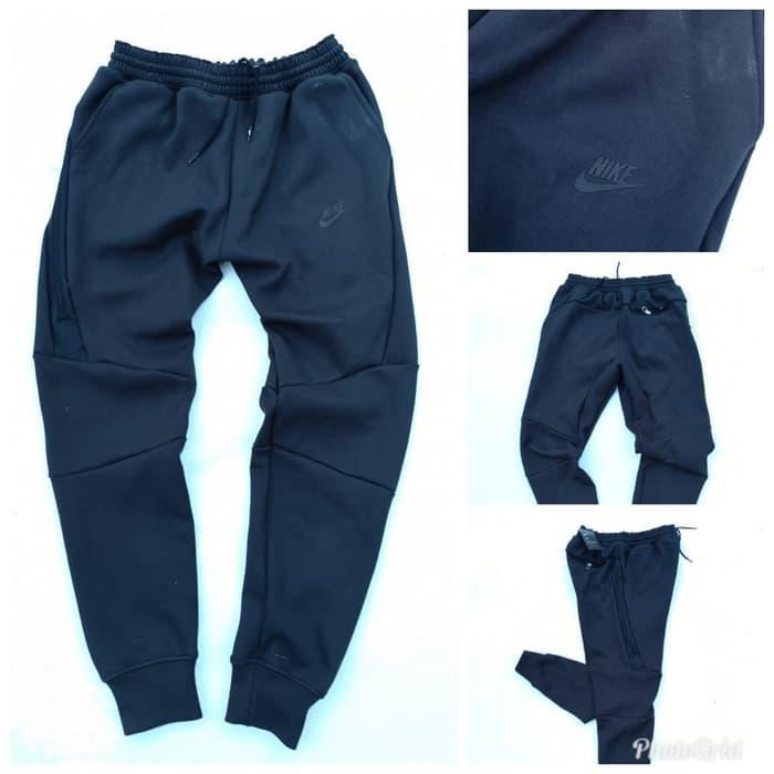 Celana Training Jogger Nike Tech Fleece Black Original Grade Limited Shopee Indonesia