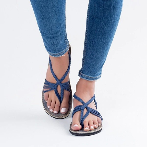 Women/'s Ankle Strappy Beach Gladiator Flats Sandals Casual Flip Flops New