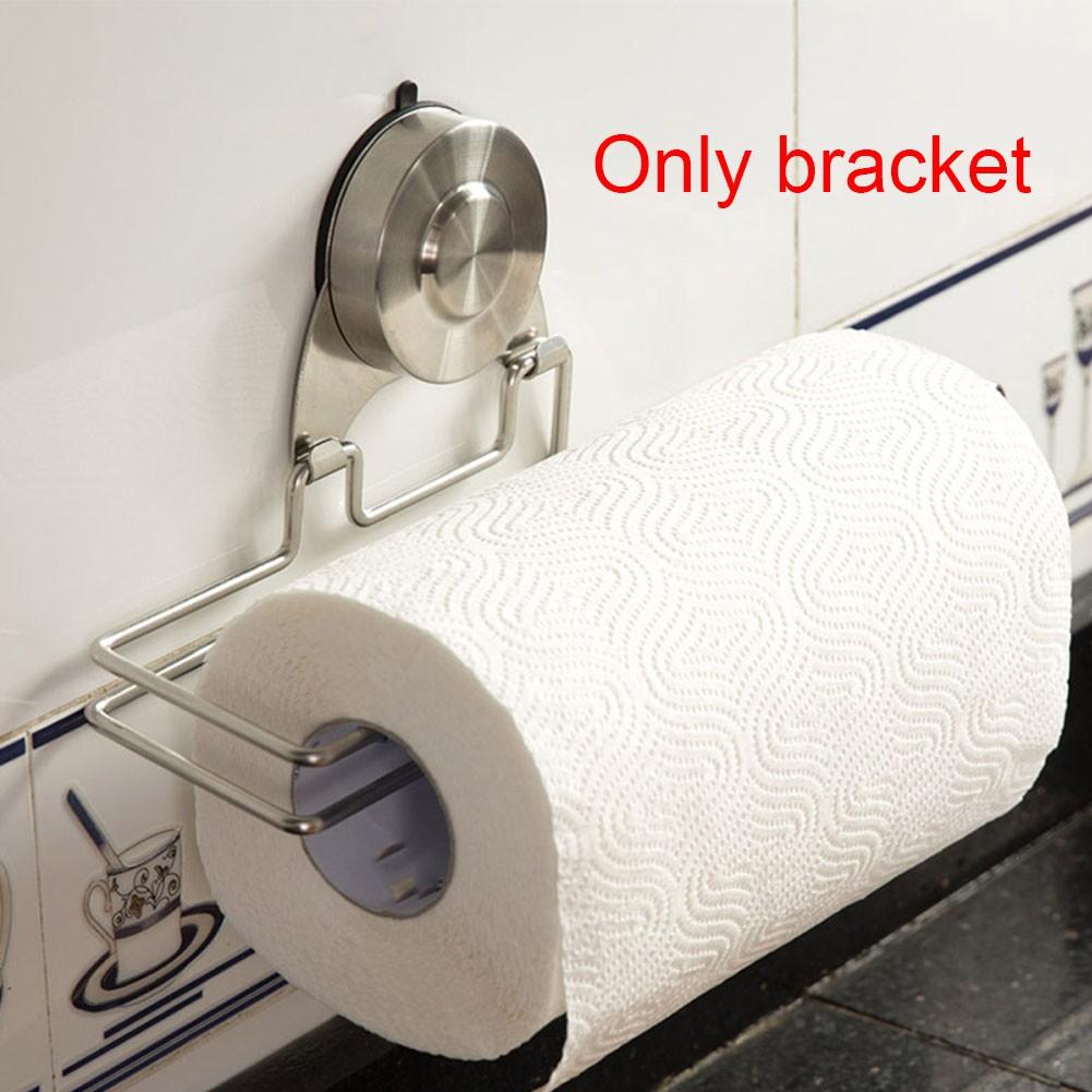 Self Adhesive Stainless Steel Bathroom Paper Roll Holder Tissue Storage Rack | Shopee Indonesia