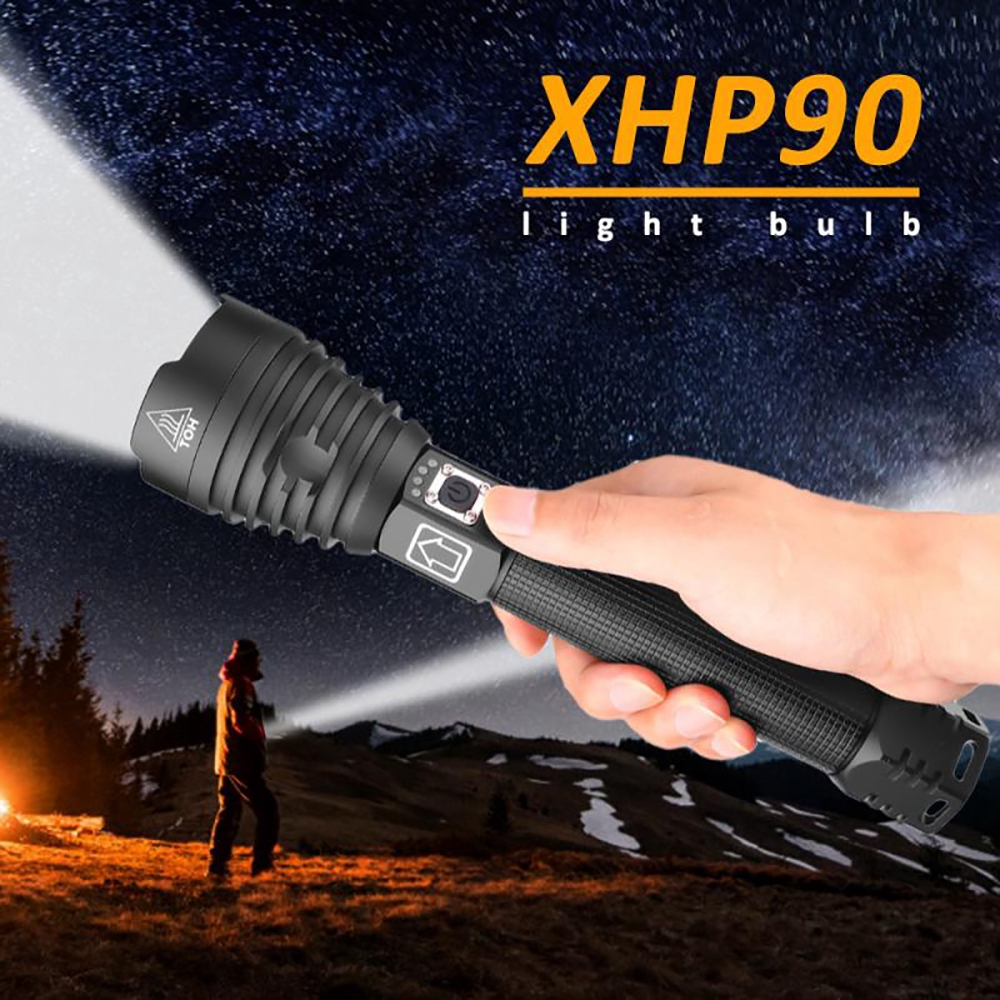Rechargeable 120000 lumens xhp70.2 Most Powerful LED Flashlight USB Zoom Torch* XHP 90