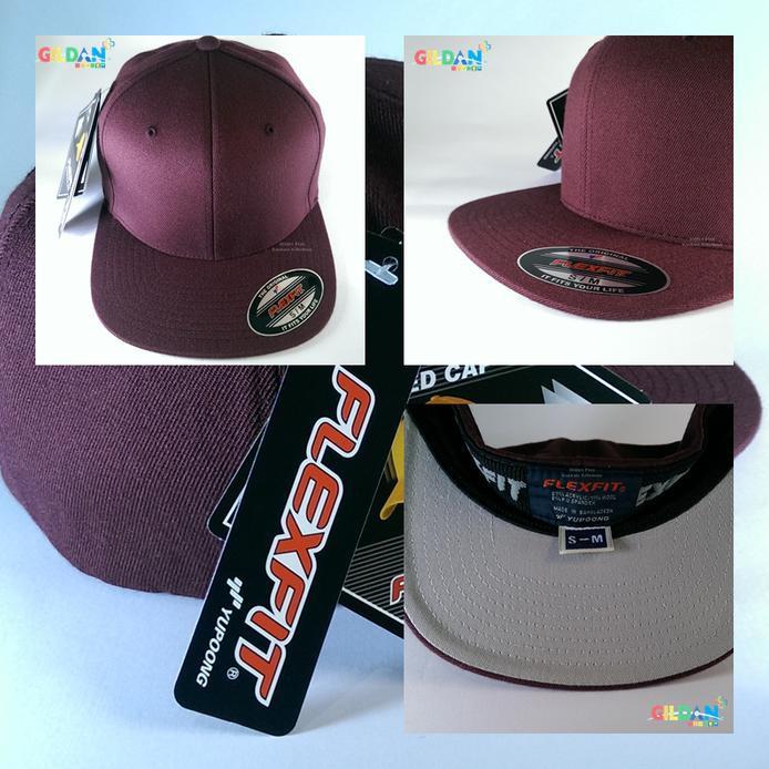 f7c1aa5ed87 Hot Promo 6677 Flexfit Pro-Style Wool Topi Hip-Hop Snapback Yupoong  Original Free Ongkir
