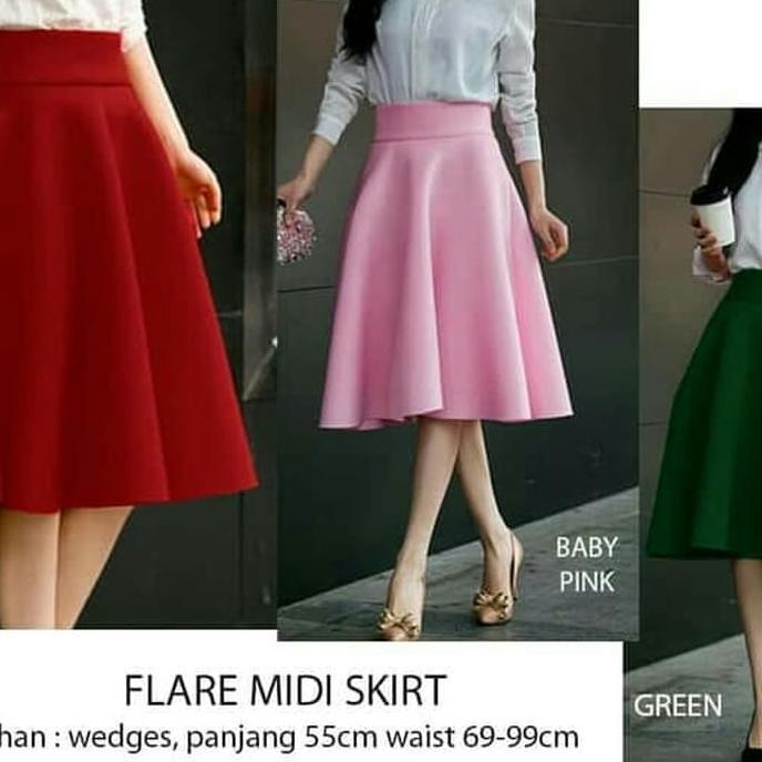 bccd74a028 Best Seller Anya Tartan Skirt - Rok Flare Midi Kotak Plaid - Pink | Shopee  Indonesia