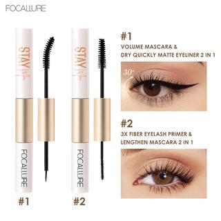 Focallure 2 In 1 Maskara + Eyeliner Anti Air Untuk Hasil Bulu Mata Tebal Dan Lentik 3