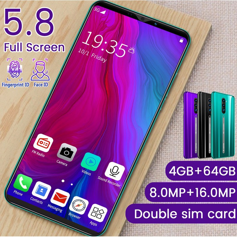 4G【hp murah】Rino3Pro Ponsel Pintar 5.8 Inci Ponsel RAM 4GB + RO M 64GB handphone promo
