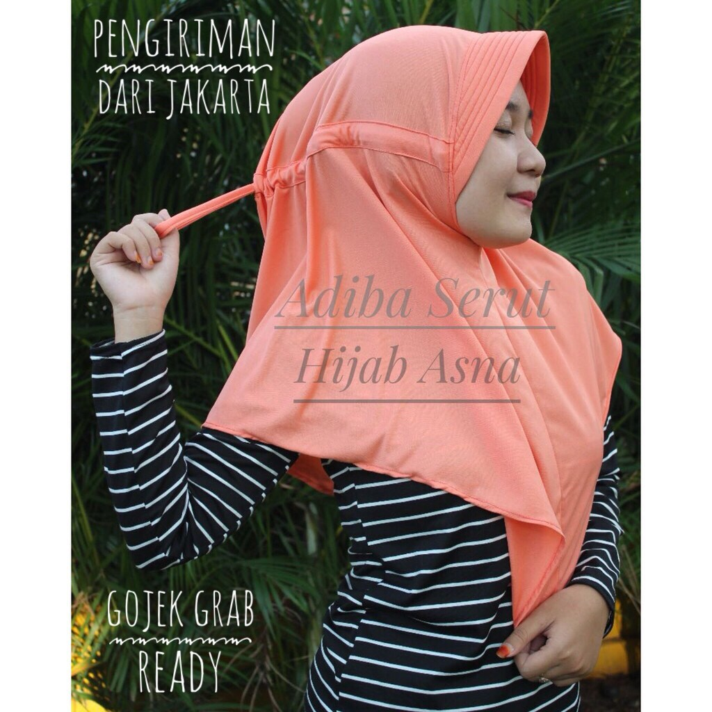 Grosir Termurah Jilbab Adiba Serut Jokowi Hijab Instan Segiempat Shabby Chic Sj0004 Shopee Indonesia