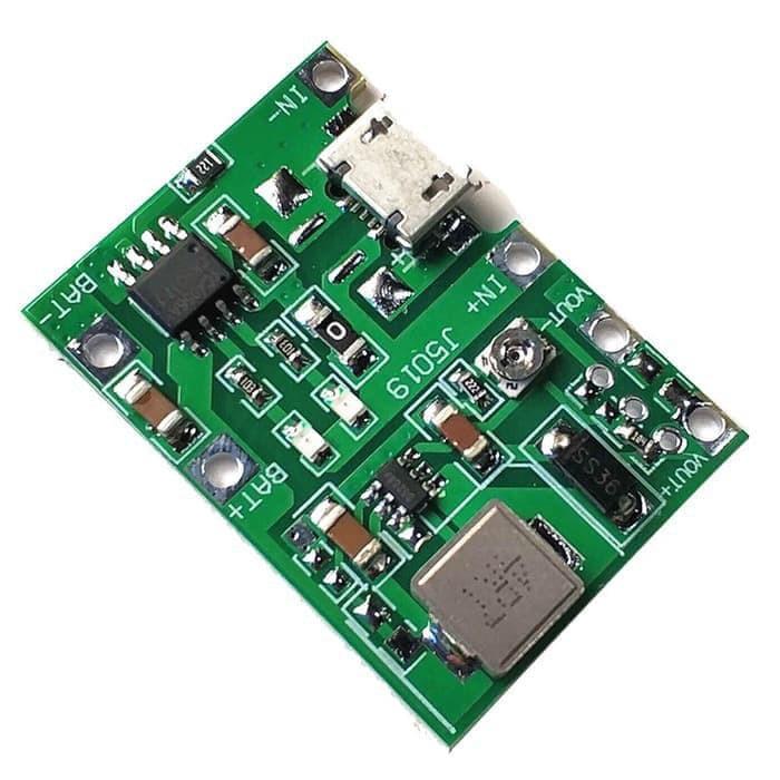 Modul charger TP4056 5V 1A plus modul stepup 5V 9V 12V 2A