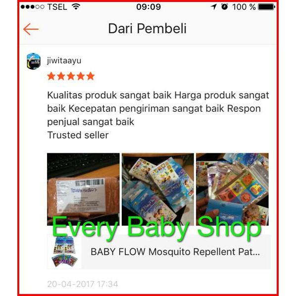 BABY FLOW Mosquito Repellent Patch / Stiker Anti Nyamuk isi 24 pcs AMAN untuk Bayi Babyflow