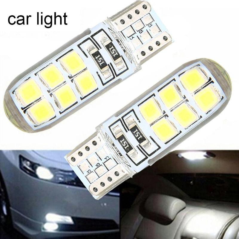 10pcs White LED Canbus Error Free Silica Light Bulb Xenon T10 W5W 12SMD 2835