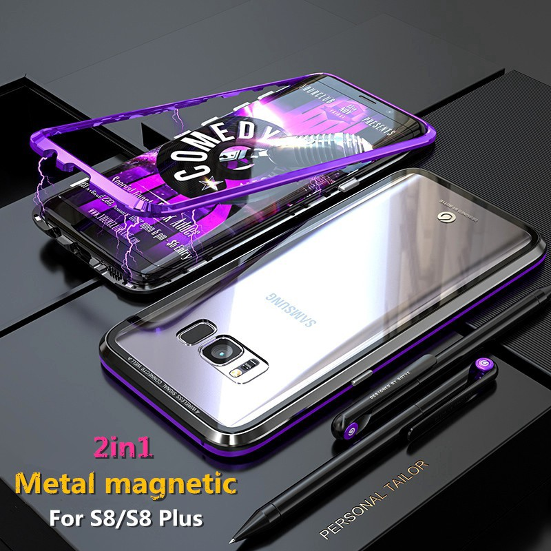 ... Gores Screen Guard anti shock Limited Full Melengkung Promo Murah. Source · Samsung Galaxy S8 /S8 Plus Slim Magnet Metal Glass Hard Case | Shopee ...