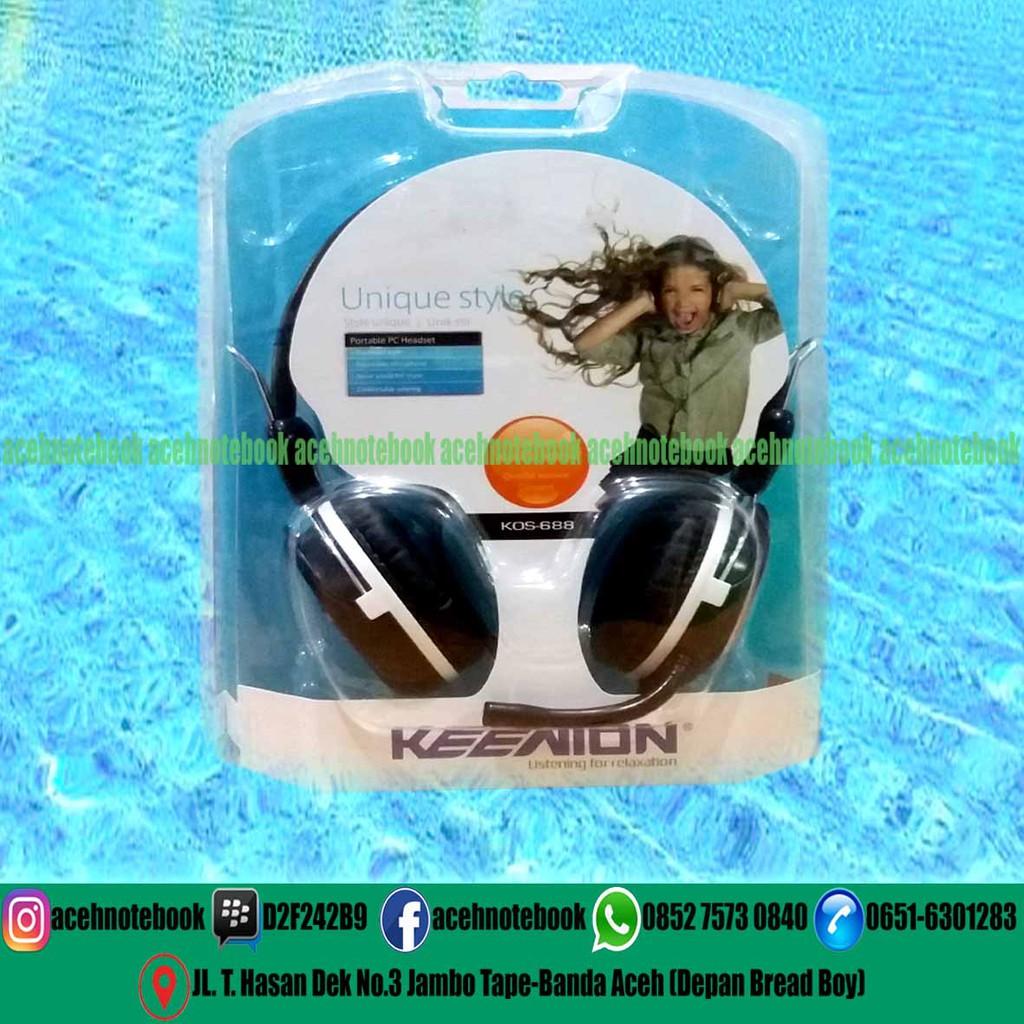 Headshet Keenion Cd 220mv Shopee Indonesia Headset Kos 803 Headphone Original Blue