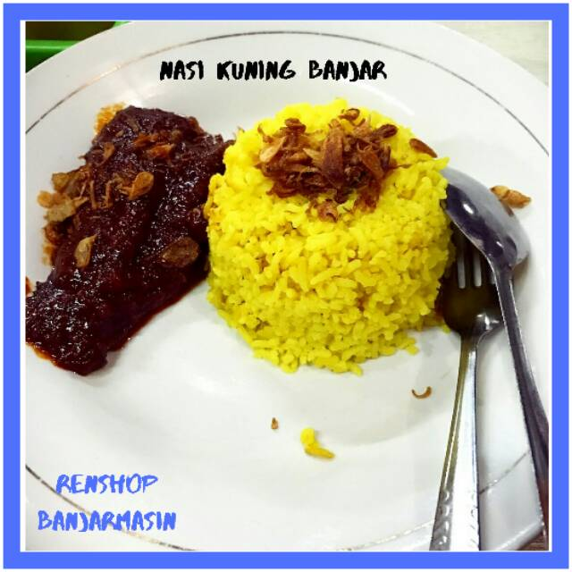 Nasi Kuning Banjar Menu Sarapan Masakan Banjar Murah Shopee