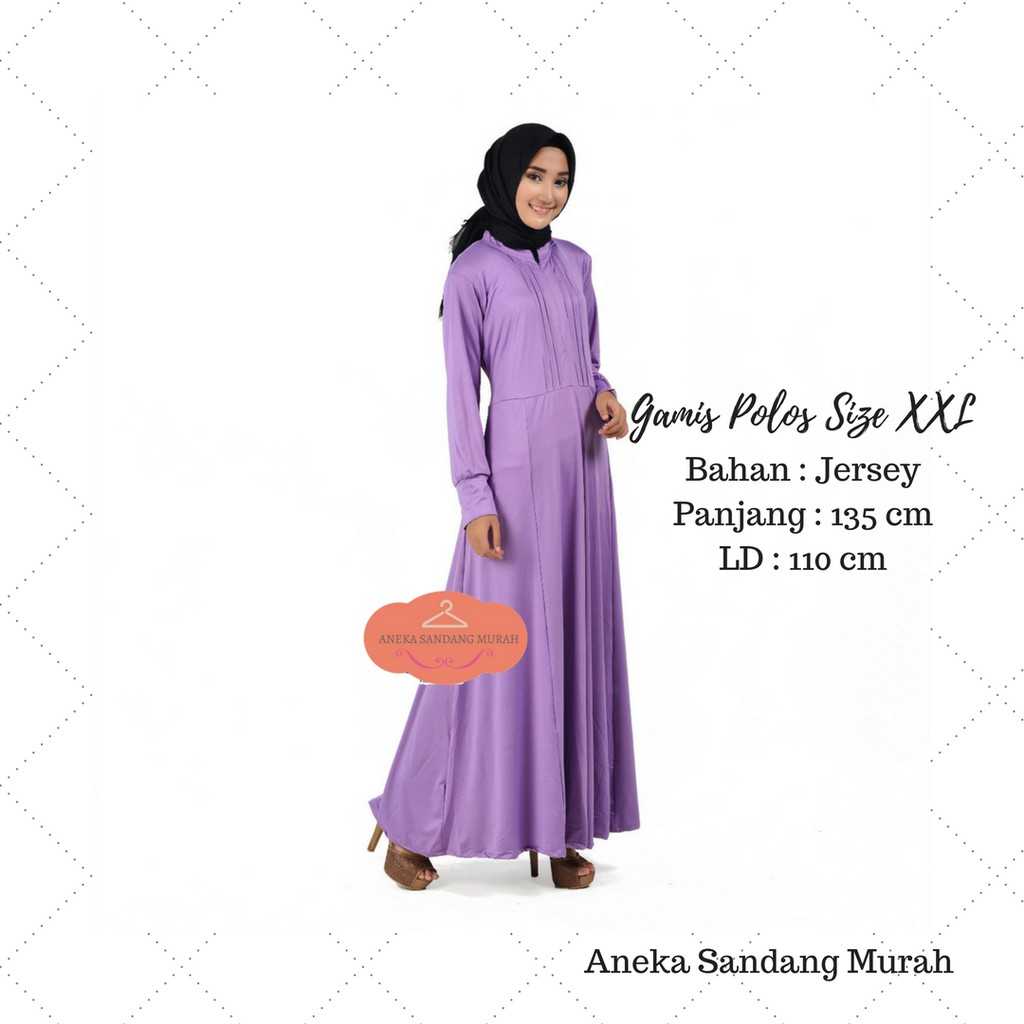 Gamis Jersey Polos Busui Support Bahan Jersey Terbaik Size