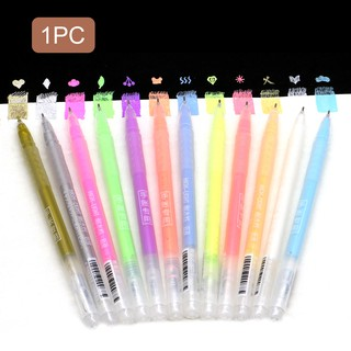 Seamiart_1PC Highlight Pen / 12 Colors is an optional_DIY Tool for Cartoon / Pocket / Student Stabilo
