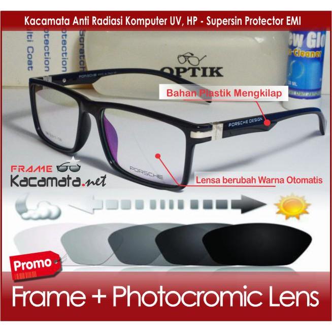 Kacamata Minus PORSCH 6001 Baca Anti Patah Frame Kacamata Pria Wanita  Fashion Lensa Anti Radiasi  fd7d625b10