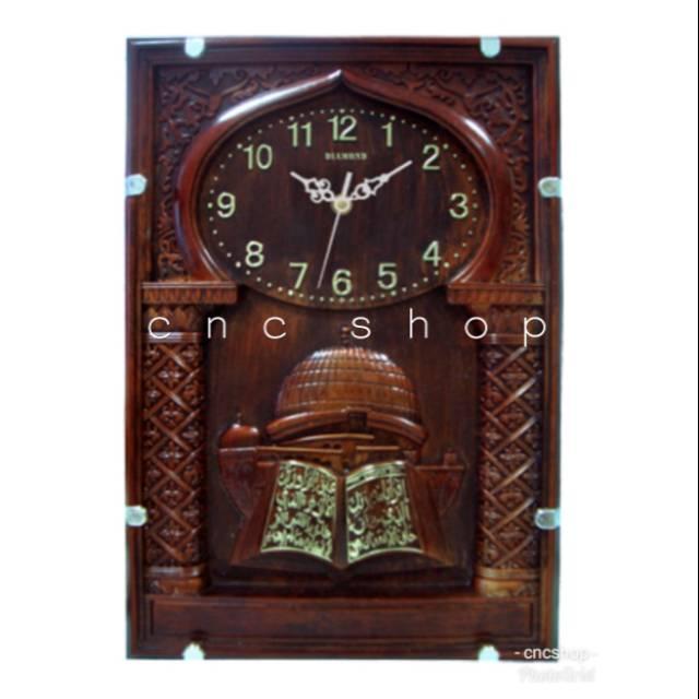 CNC SHOP Jam Dinding Muslim Kaligrafi Timbul Mewah Elegant 168deca01d
