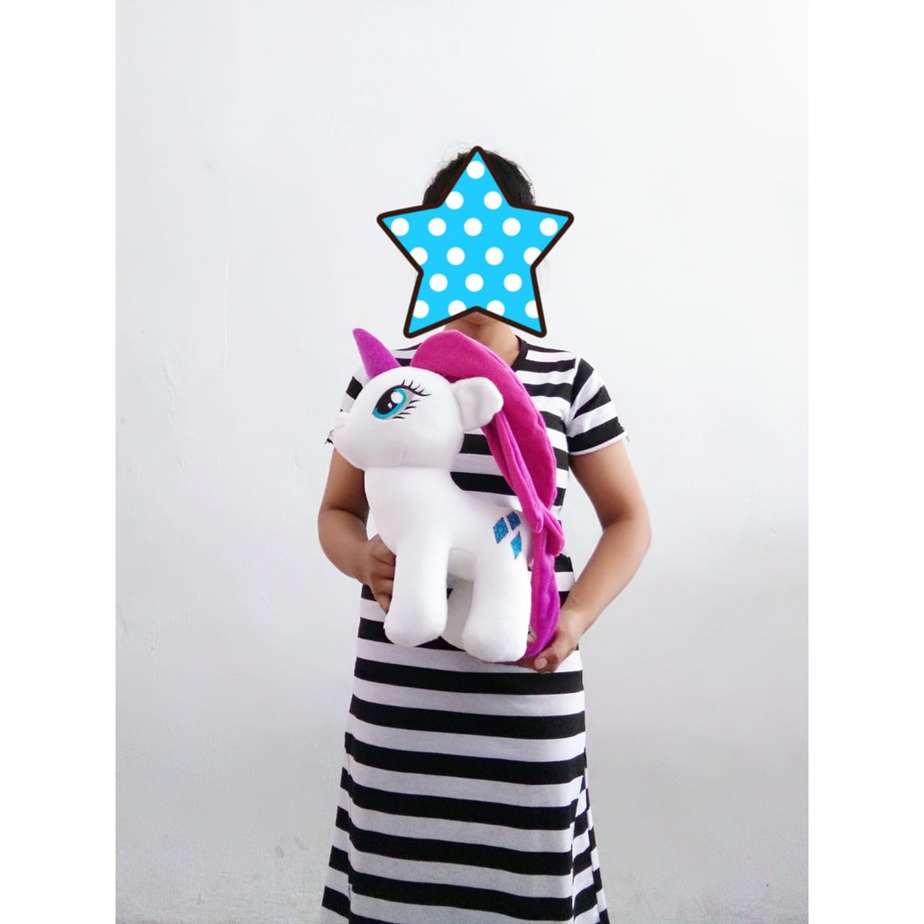 Boneka Unicorn Putih L Kuda My Little Poni Ukuran 35cm Shopee Indonesia