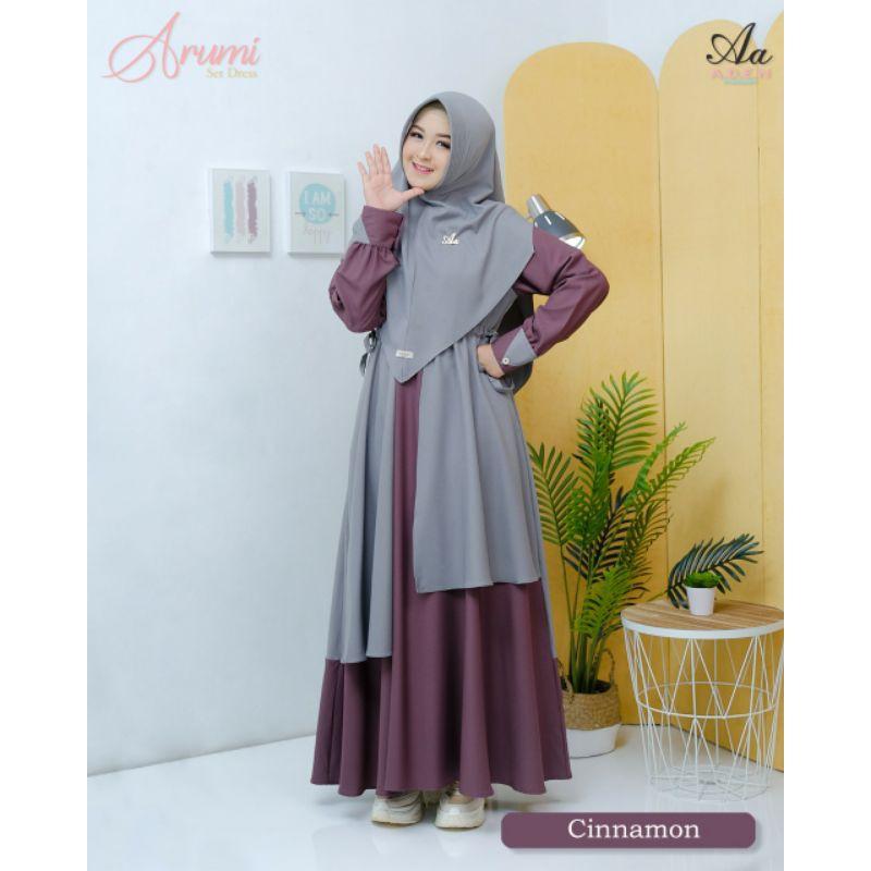 Arumi Dress Original Aden, Gamis terlaris 2021, Gamis terbaru lebaran 2021, Gamis Berkualitas syar'i