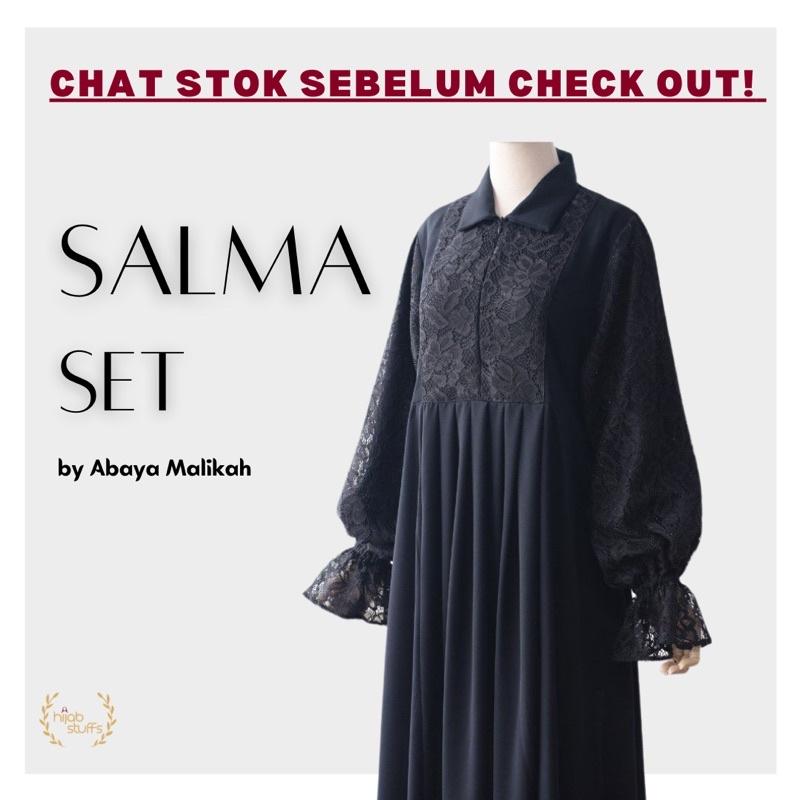 GAMIS SET SALMA | ABAYA MALIKAH | HIJAB SYARI POLOS