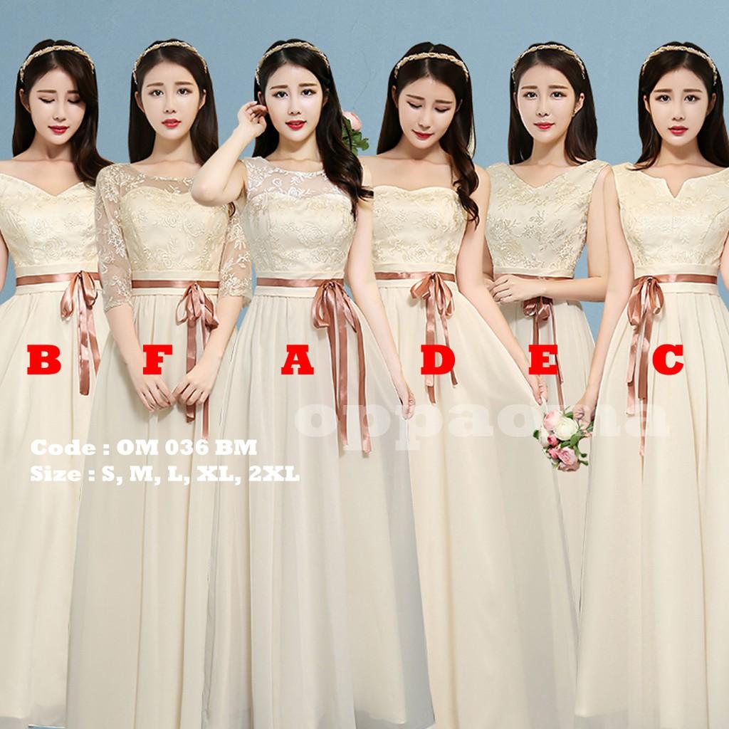 Gaun panjang pengiring pengantin oppaoma OM 12 BM