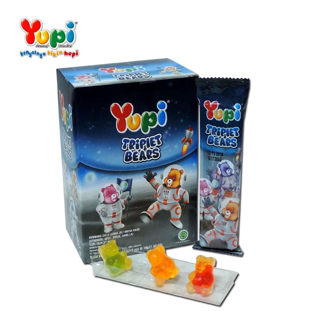 Yupi Love Gummy Shopee Indonesia Neon Worms Bag 120gr