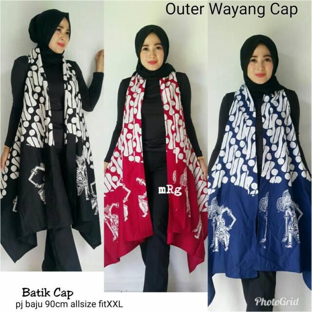 Outer Batik Rompi Batik Panjang Outer Wanita Batik Modern Batik Kekinian
