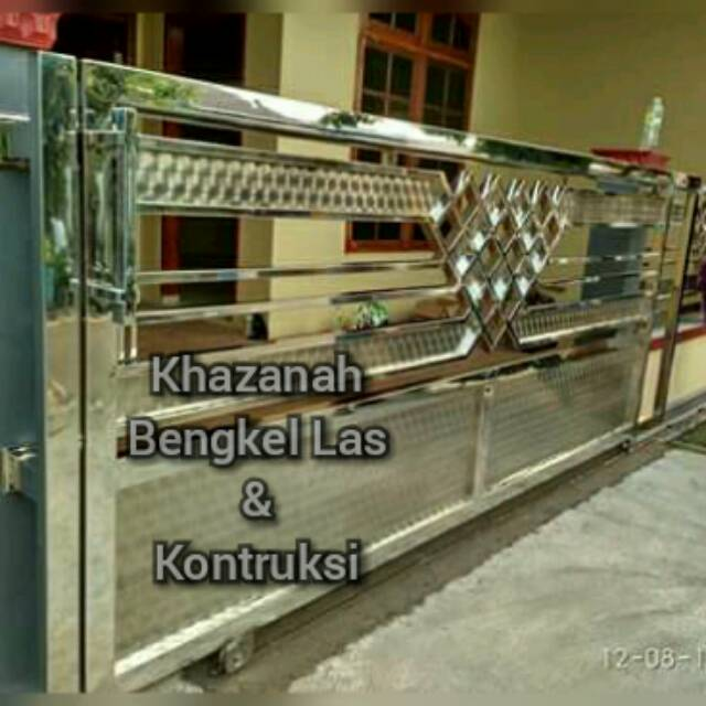 Pagar Rumah Stainless Minimalis   Shopee Indonesia