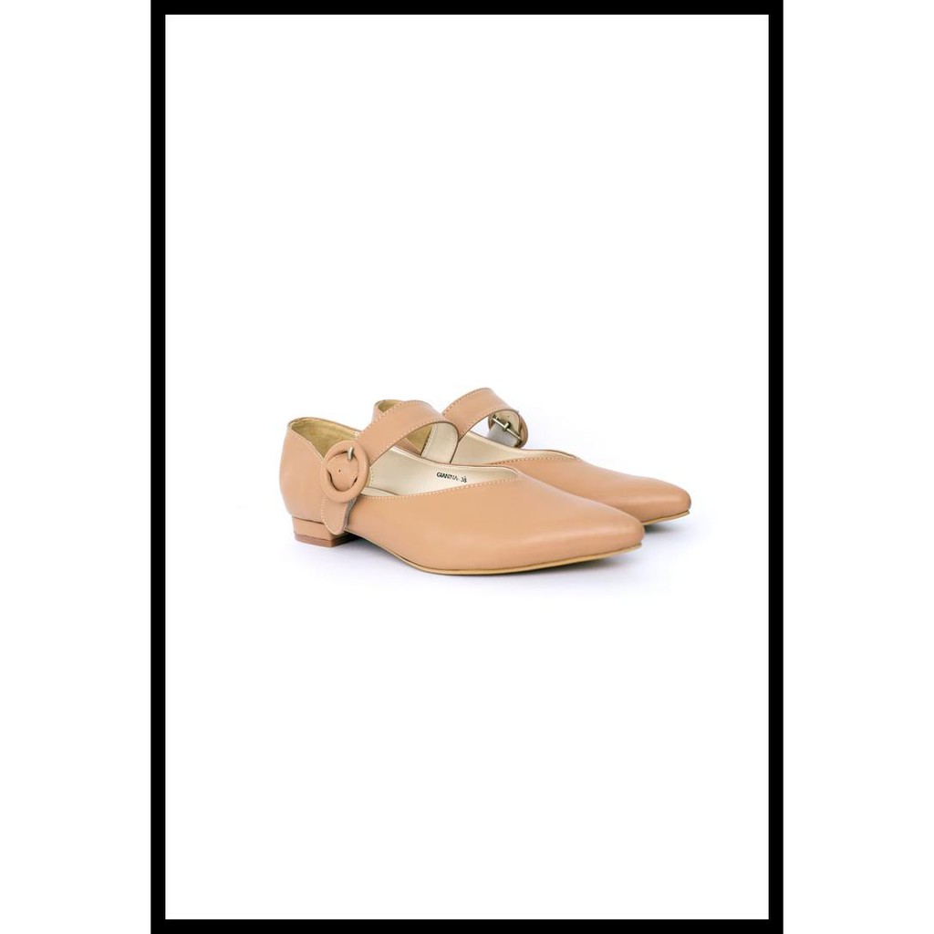 Amazara Aurora Hazelnut Glossy Shopee Indonesia Marilyn Nude Loafers
