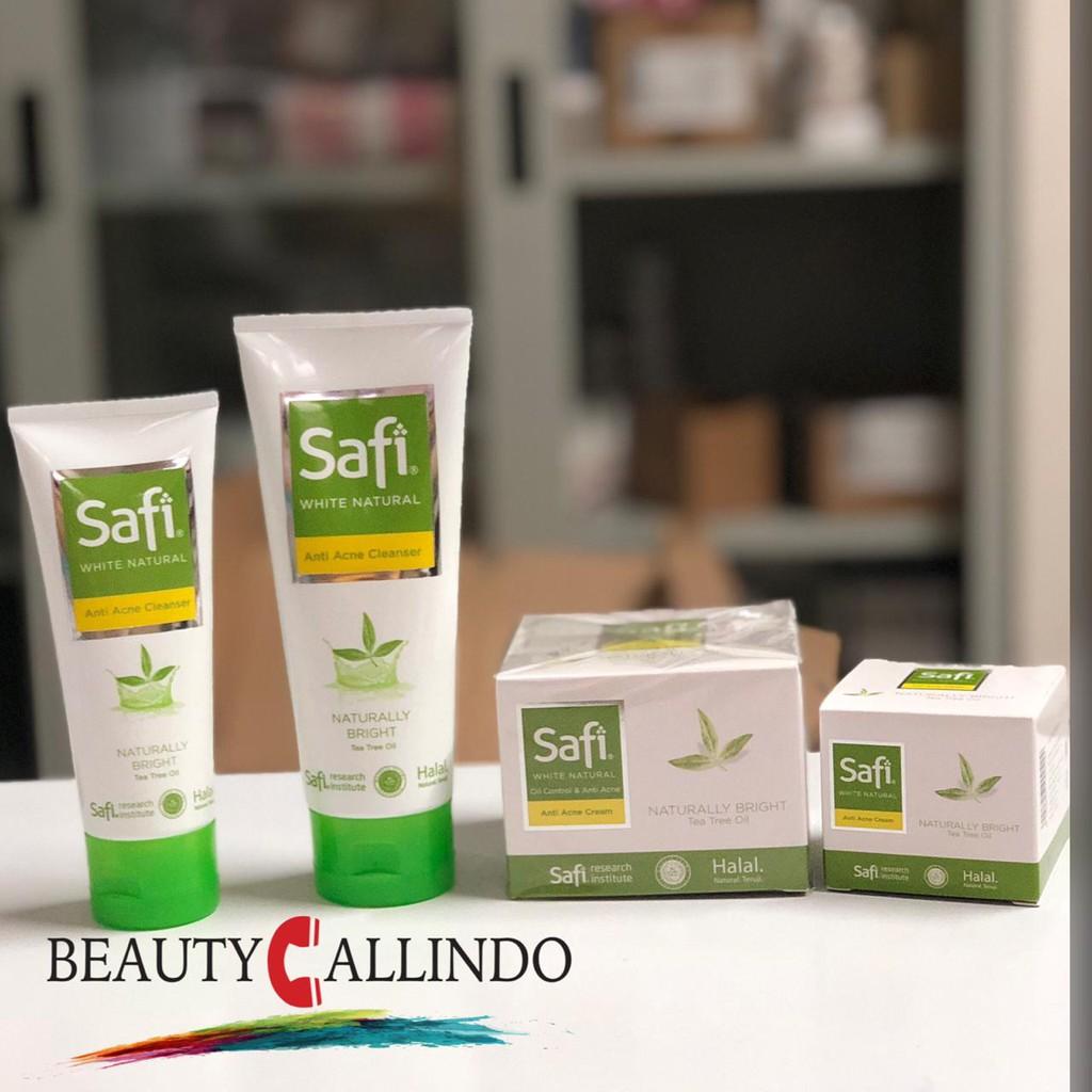 Safi White Natural Anti Acne Cleanser Anti Acne Cream Kemasan Hijau Shopee Indonesia