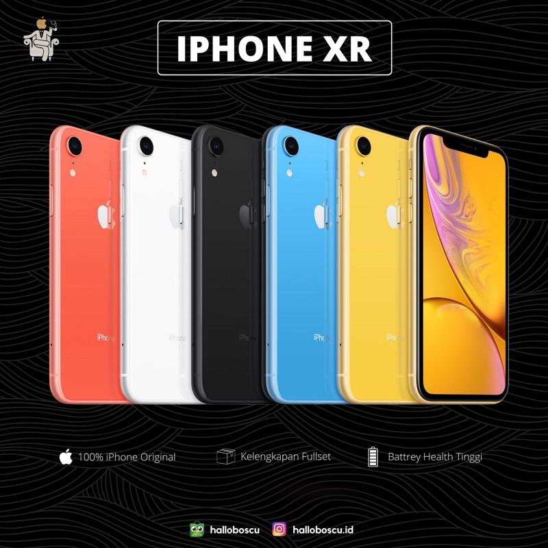 iPhone XR 64 128 256 GB Fullset Garansi Inter Like New ...