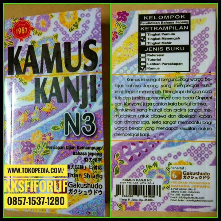 Big Sale N3 Kamus Kanji