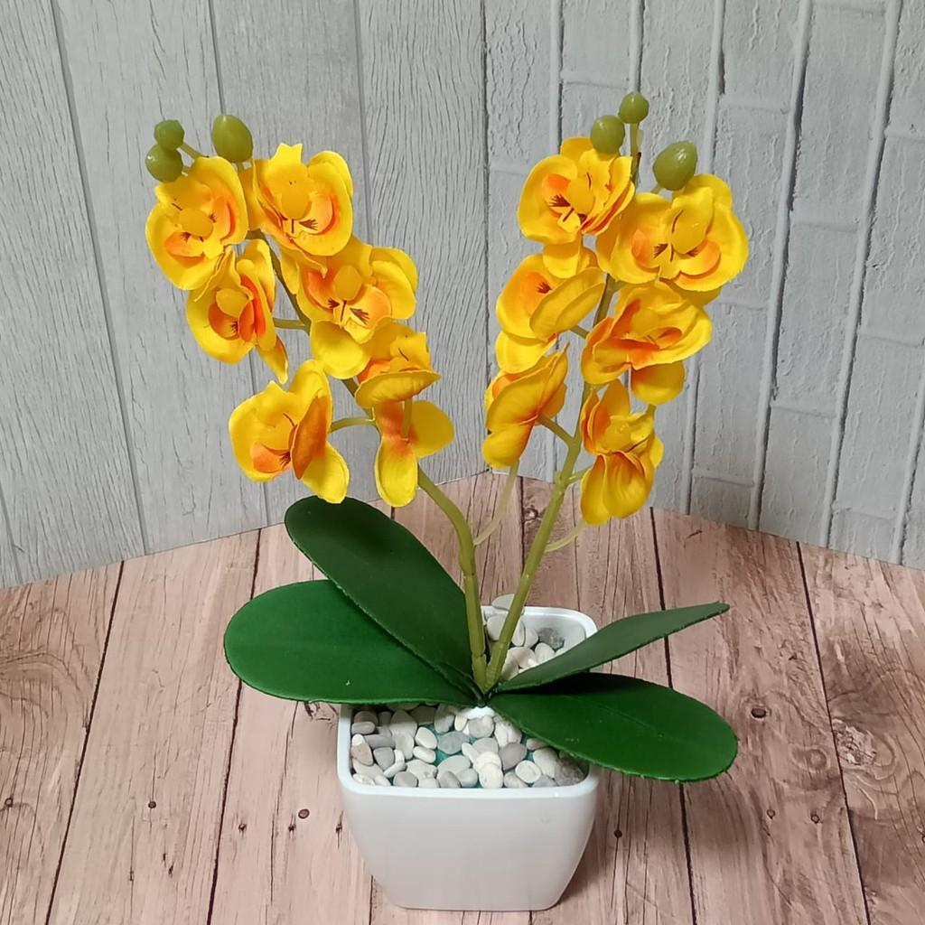 Safwashop Bunga Anggrek Artificial Import Bunga Hiasan Rumah Bunga Anggrek Imitasi Hiasan Kamar Shopee Indonesia