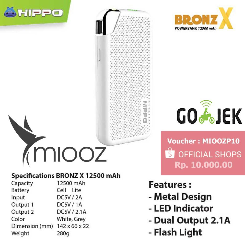 Promo Hippo Power Bank Bronz X 15000 Mah Simple Pack Shopee Garansi Resmi Grey Indonesia